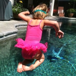 Child Jumping in Pool, Swim Instruction, Fresno, CA